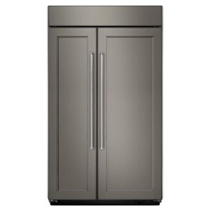 KitchenAid 48-in 30.1-cu ft Built-in Side-By-Side Refrigerator (Custom Panel Ready)