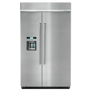 KitchenAid 29.5-cu ft Standard-Depth Built-In Side-by-Side Refrigerator (Fingerprint-Resistant Stainless Steel) ENERGY STAR