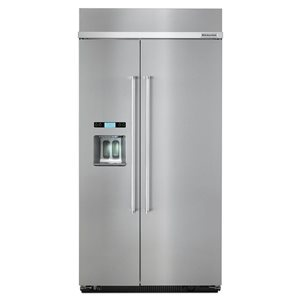 KitchenAid 42-in 25-cu ft Built-in Side-By-Side Refrigerator  (Stainless Steel) ENERGY STAR