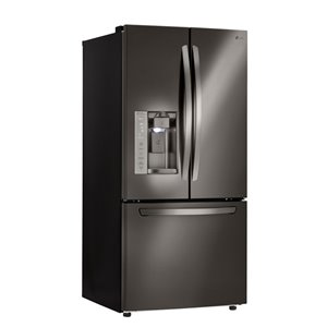LG 33-in 24.2-cu ft French Door Refrigerator with Ice Maker (Black Stainless Steel) ENERGY STAR