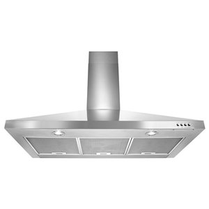 Whirlpool 36-in 400 CFM Wall-Mounted Range Hood (Stainless Steel)