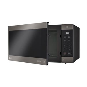 LG 30-in 2.0-cu ft Countertop Microwave with Sensor Cooking Controls (Black Stainless Steel)
