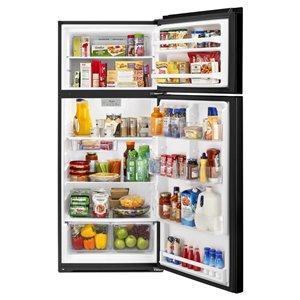 Whirlpool 17.6-cu ft Top-Freezer Refrigerator (Black)