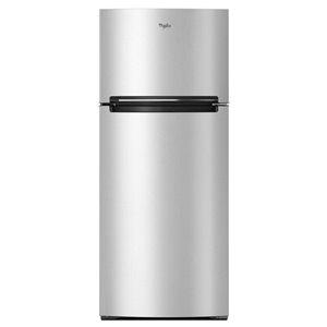 Whirlpool 17.6-cu ft Top-Freezer Refrigerator (Monochromatic Stainless Steel)
