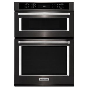 KitchenAid 27-in Self-Cleaning Convection Microwave Wall Oven Combo (Black Stainless)
