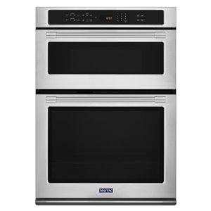 Maytag 30-in Self-Cleaning Microwave Wall Oven Combo (Fingerprint Resistant Stainless Steel)
