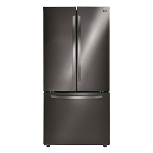 LG 30.8-cu ft Door French Door Refrigerator (Black Stainless Steel) ENERGY STAR
