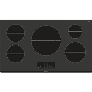 Bosch 500 Series 36-in 5-Element Smooth Surface Induction Cooktop (Black)