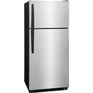 Frigidaire 28-in 16.3-cu ft Top-Freezer Refrigerator (Stainless Steel) ENERGY STAR