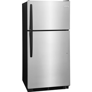 Frigidaire 28-in 14.5-cu ft Top-Freezer Refrigerator (Stainless Steel) ENERGY STAR