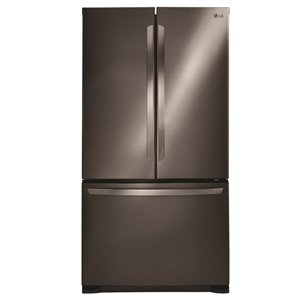 LG 33-in 23.9-cu ft French Door Refrigerator (Black Stainless Steel) ENERGY STAR