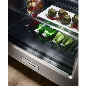 KitchenAid 5.1-cu ft Built-in Compact Refrigerator (Black Stainless Steel)