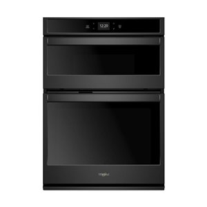 Whirlpool 30-in Self-Cleaning Microwave Wall Oven Combo (Black)