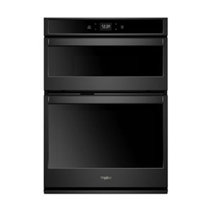 Whirlpool 27-in Self-Cleaning Microwave Wall Oven Combo (Black)