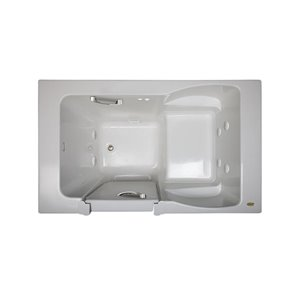 Jacuzzi Finestra White Acrylic Rectangular Bathtub with Left-hand Drain (Common: 36-in x 60-in; Actual: 38.5-in x 36.0-in x 60.0-in)