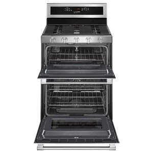 Maytag 30-in 5-Burner 2.1-cu ft/3.9-cu ft Double Oven ...