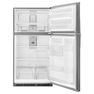 Whirlpool 21.3-cu ft Top-Freezer Refrigerator (Fingerprint-Resistant Stainless Steel) ENERGY STAR