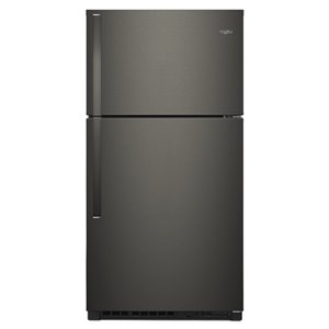 Whirlpool 21.3-cu ft Top-Freezer Refrigerator (Fingerprint-Resistant Black Stainles) ENERGY STAR