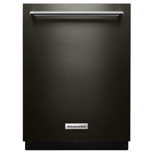 KitchenAid 21-in 39-Decibel Filtration Built-In Dishwasher (Fingerprint-Resistant Black Stainless) ENERGY STAR