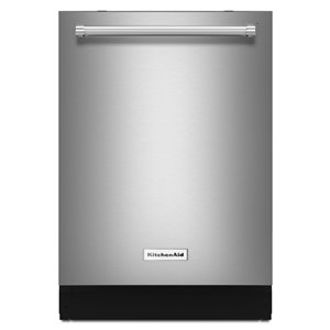 KitchenAid 24-in 39-Decibel Built-in Dishwasher with Hidden Control Panel (Fingerprint Resistant Stainless Steel) ENERGY STAR