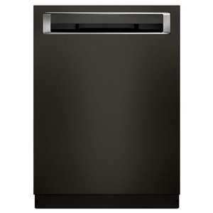 KitchenAid 24-in 39-Decibel Built-in Dishwasher with Hidden Control Panel (Black Stainless) ENERGY STAR