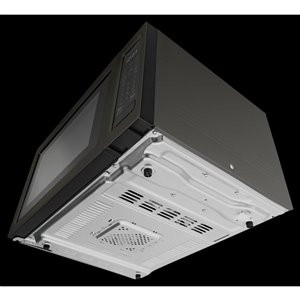 KitchenAid 1.5-cu ft 1400.0-Watt Countertop Convection Microwave (Black Stainless)