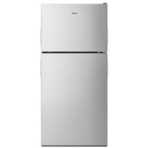 Whirlpool 18.2-cu ft Standard-Depth Top-Freezer Refrigerator with Ice Maker (Fingerprint-Resistant Stainless Steel) ENERGY STAR