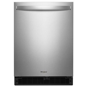 Whirlpool 5.1-cu ft Built-in/Freestanding Compact Refrigerator (Stainless steel) ENERGY STAR