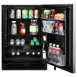 Whirlpool 5.1-cu ft Undercounter Compact Refrigerator (Stainless steel) ENERGY STAR