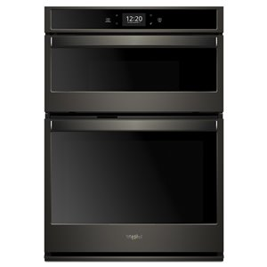 Whirlpool 30-in Self-Cleaning Convection Microwave Wall Oven Combo (Black Stainless Steel)