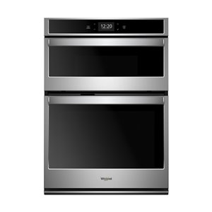 Whirlpool 27-in Self-Cleaning Convection Microwave Wall Oven Combo (Stainless Steel)