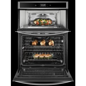 Whirlpool 30-in Self-Cleaning Convection Microwave Wall Oven Combo (Fingerprint Resistant Stainless Steel)