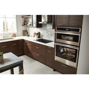 Whirlpool 30-in Self-Cleaning Convection Microwave Wall Oven Combo (Fingerprint Resistant Sunset Bronze)