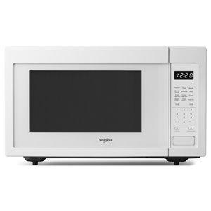 Whirlpool 1.6-cu ft 1100-Watt Countertop Microwave (White)