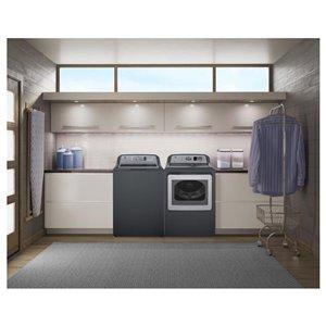 GE 5.3 cu ft High-Efficiency Top-Load Washer (Diamond Grey) ENERGY STAR