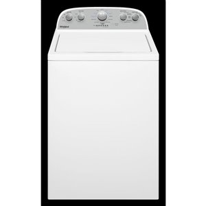 Whirlpool 3.8-cu ft High Efficiency Top-Load Washer with Agitator (White)
