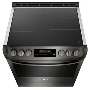 LG 30-in 6.3 cu ft Slide In Induction Range with Self-cleaning Convection Oven (Black Stainless Steel)