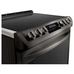 LG 30-in 5-Element Self-Cleaning Single-Fan European Element Slide-In Induction Range (Fingerprint-Resistant Black Stainless Steel)