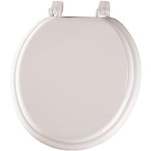 Mayfair White Wood Round Toilet Seat