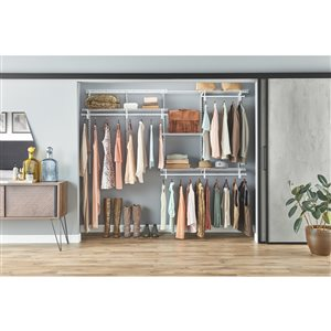 ClosetMaid 5-ft to 8-ft ShelfTrack Closet Organizer Kit