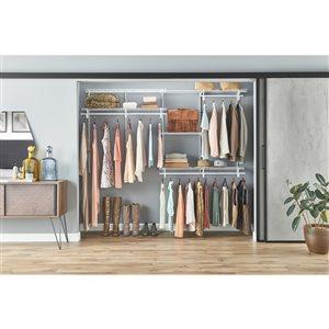 ClosetMaid 5-ft to 8-ft ShelfTrack Closet Organizer Kit ...
