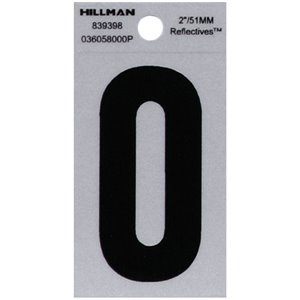 2-in Reflective Black House Number
