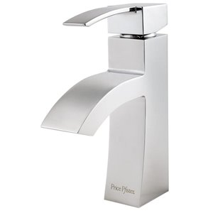 Pfister Bernini Polished Chrome 1-Handle Single Hole 4-in Centerset WaterSense Bathroom Sink Faucet with Drain (Valve Included)