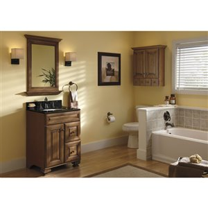 Diamond FreshFit Ballantyne 24-in x 21-in Mocha Bathroom Vanity