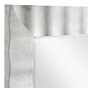 allen + roth 30.5-in x 36.5-in Silver Leaf Rectangle Framed Wall Mirror