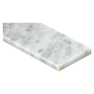 American Olean White Carrara 76-in x 6-in Natural Marble Threshold Tile