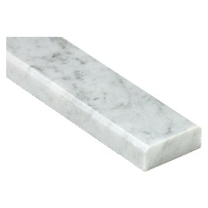 American Olean White Carrara 36-in x 3-in Natural Marble Threshold Tile