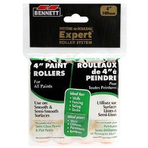 Bennett 4-in Mini Fabric Rollers