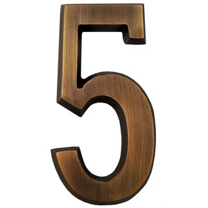 Gaines Manufacturing 4-in Solid Brass Number for SoftCurve Plaque