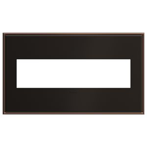 Legrand adorne 4-Gang Square Beveled Metal Wall Plate (Oil-Rubbed Bronze)
